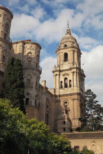 Wall Art - Photograph - Malaga, Malaga Province, Costa Del Sol, Spain.  The Cathedral by Ken Welsh