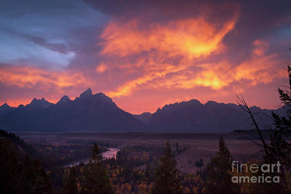 Photograph - 1502 Grand Teton Sunset by Steve Sturgill