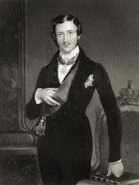 Wall Art - Drawing - Albert, Prince Consort Of Great Britain And Ireland.  by Ken Welsh