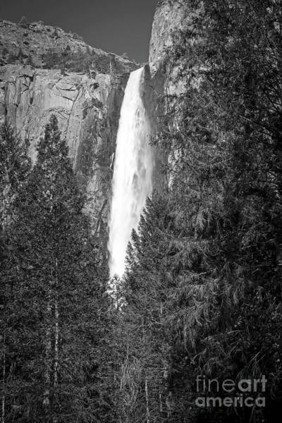 Photograph - 1517 Bridal Veil Falls Black And White by Steve Sturgill