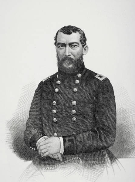 Wall Art - Drawing - Philip H. Sheridan 1831 To 1888.  Union General During American Civil War. by Ken Welsh