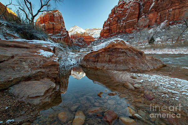 Photograph - 1537 Virgin River Reflection by Steve Sturgill