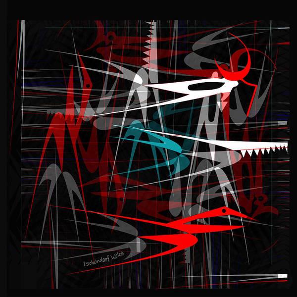 Wall Art - Digital Art - 1539 Danger Machines 2018 by Irmgard Schoendorf Welch
