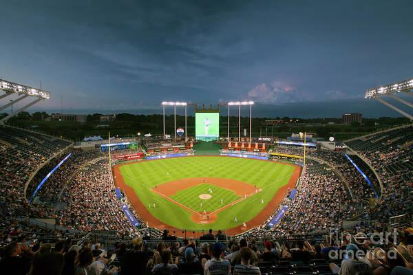 Photograph - 1554 Kauffman Stadium by Steve Sturgill