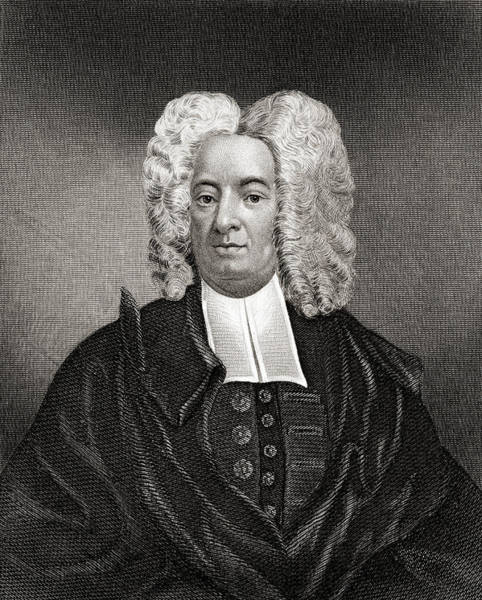 Wall Art - Drawing - Cotton Mather, 1663 To 1728.  American Puritan Minister. by Ken Welsh