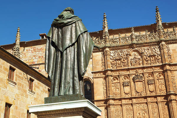 Wall Art - Photograph - Salamanca, Spain.  Statue Of Augustinian Friar Fray Luis Ponce De Leon  by Ken Welsh