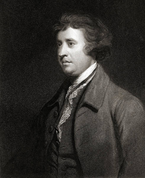 Wall Art - Drawing - Edmund Burke, 1729-1797.  British Statesman by Ken Welsh
