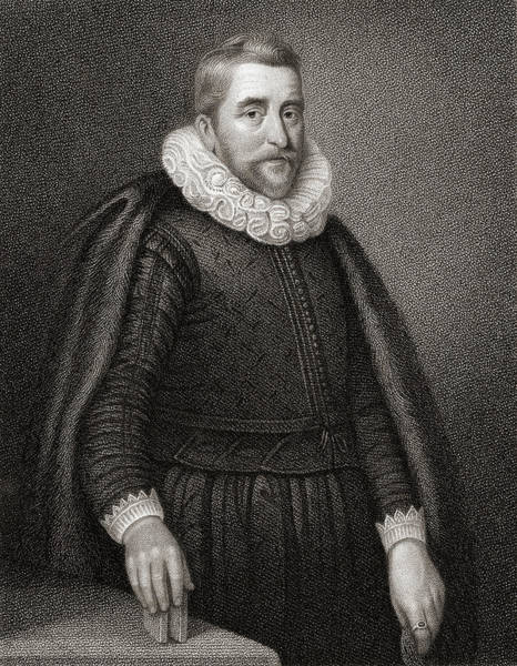 Wall Art - Drawing - Sir Henry Wotton, 1568-1639.  English Poet And Diplomat. by Ken Welsh