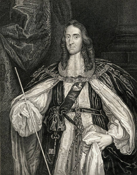 Wall Art - Drawing - Edward Montagu, 2nd. Earl Of Manchester, 1602-1671. by Ken Welsh