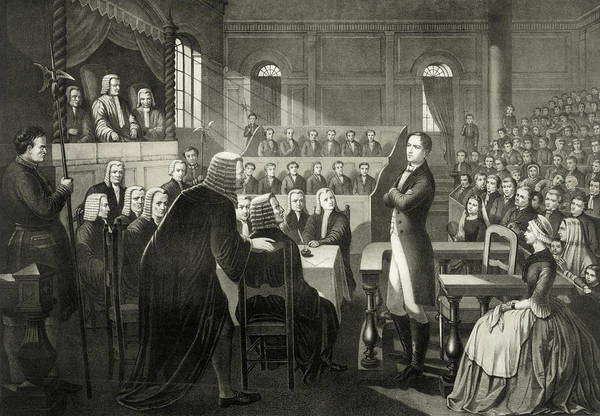 Wall Art - Drawing - The Trial Of Irish Nationalist Rebel Leader Roibeard Eimeid Or Robert Emmet by Ken Welsh