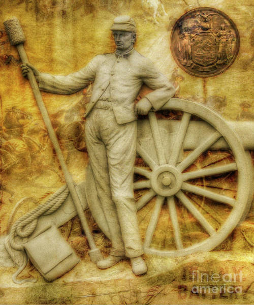 Wall Art - Digital Art - 15th New York Battery Gettysburg  by Randy Steele