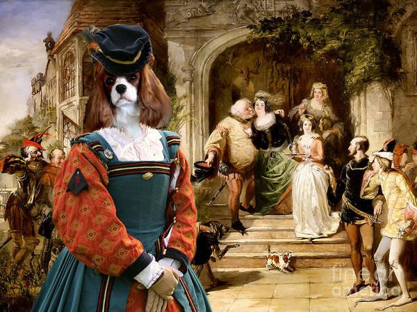 Wall Art - Painting - Cavalier King Charles Spaniel Art Canvas Print by Sandra Sij
