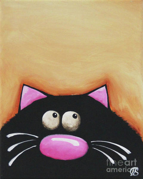Fat Cat Painting - Fat Cat by Lucia Stewart