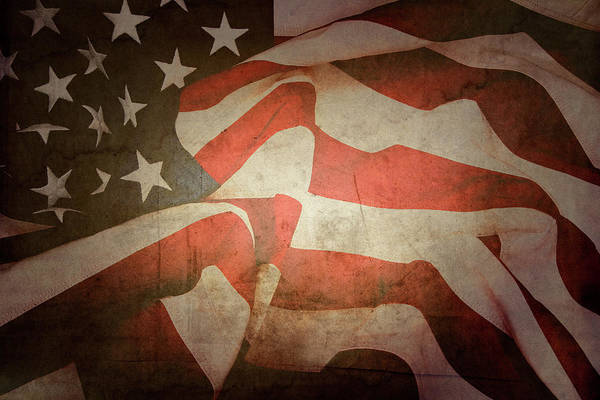 Wall Art - Photograph - American Flag No.189 by Les Cunliffe