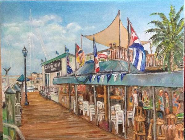 11x14 Painting - #160 Schooner Wharf Bar Kw by Maria O'dell