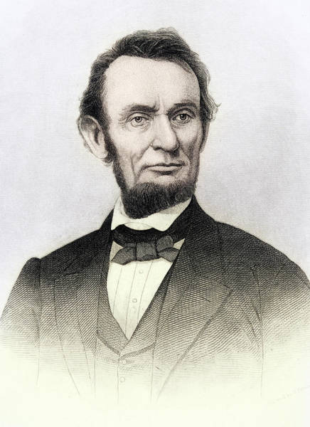 Wall Art - Drawing - Abraham Lincoln, 1809 To 1865. 16th President Of The United States Of America by Ken Welsh