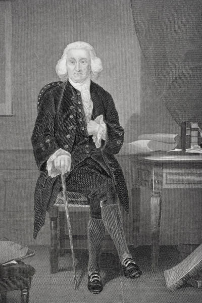 Wall Art - Drawing - Jonathon Trumbull, 1710-1785.  Chief Justice Connecticut Supreme Court. by Ken Welsh