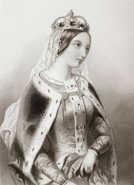 Wall Art - Drawing - Katherine Of Valois, 1401-1437. Queen Of King Henry V Of England.   by Ken Welsh