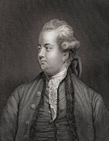 Wall Art - Drawing - Edward Gibbon,1737-1794. English Rationalist, Historian And Scholar. by Ken Welsh