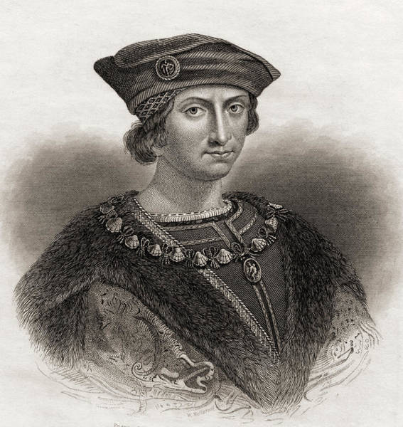 Wall Art - Drawing - Charles Viii, 1470 -1498, King Of France by Ken Welsh