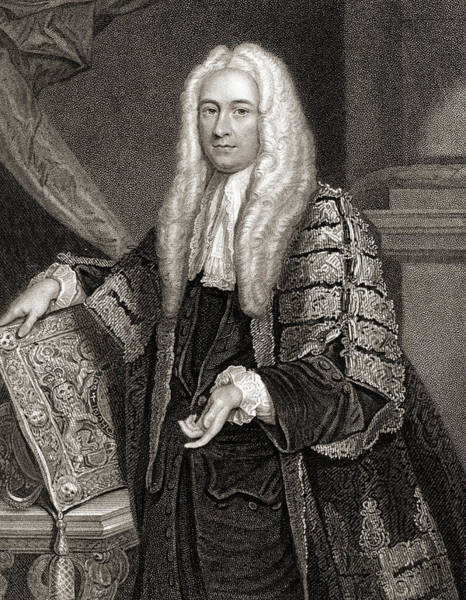 Wall Art - Drawing - Philip Yorke,1st  Earl Of Hardwicke, 1690-1764 by Ken Welsh