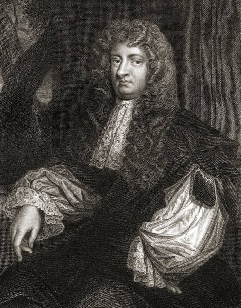 Wall Art - Drawing - William Russell, Lord Russell, 1639-1683.  English Whig Politician by Ken Welsh