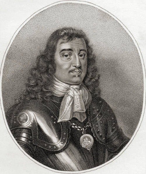 Wall Art - Drawing - George Monck, 1st Duke Of Albemarle, 1608 - 1670. by Ken Welsh