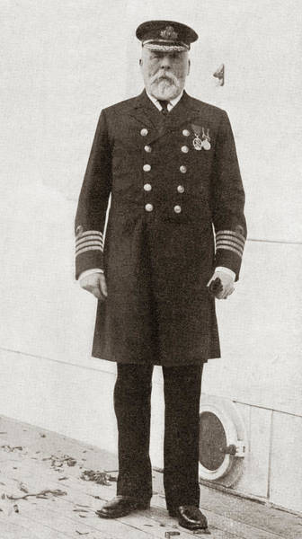 Wall Art - Photograph - Captain Edward John Smith, Captain Of The Titanic by Ken Welsh