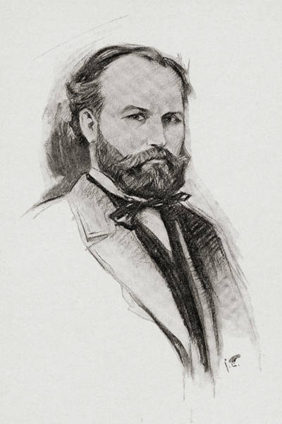 Wall Art - Drawing - Charles Francois Gounod, 1818-1893. French Composer. by Ken Welsh