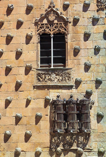 Wall Art - Photograph - Salamanca, Salamanca Province, Spain. Detail Of Casa De Las Conchas, Or House Of The Shells. by Ken Welsh