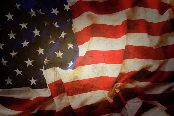 Wall Art - Photograph - American Flag No.190 by Les Cunliffe