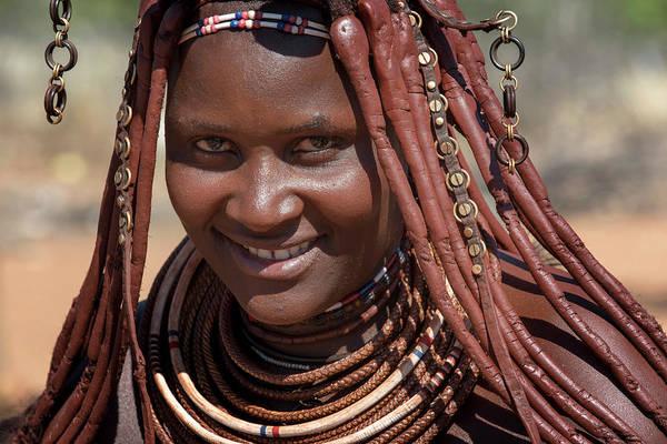 Wall Art - Photograph - Ovahimba Or Himba Portrait Of A Married Woman Kunene District Namibia by imageBROKER - Matthias Graben