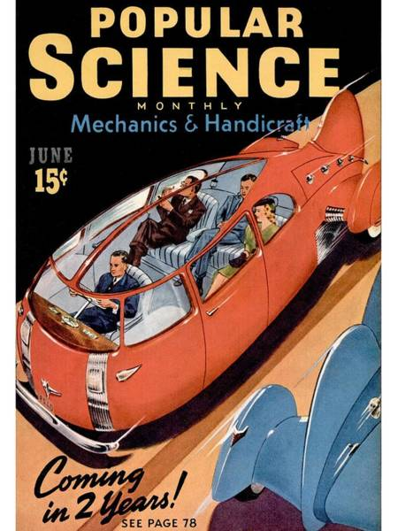 Publication Photograph - Popular Science Magazine Covers by Popular Science
