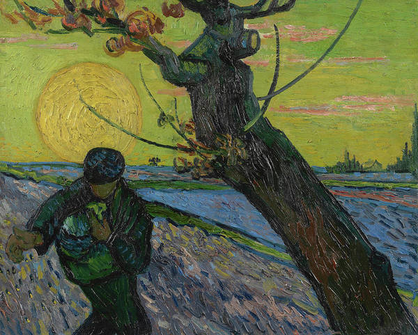 Rural Life Wall Art - Painting - The Sower by Vincent Van Gogh