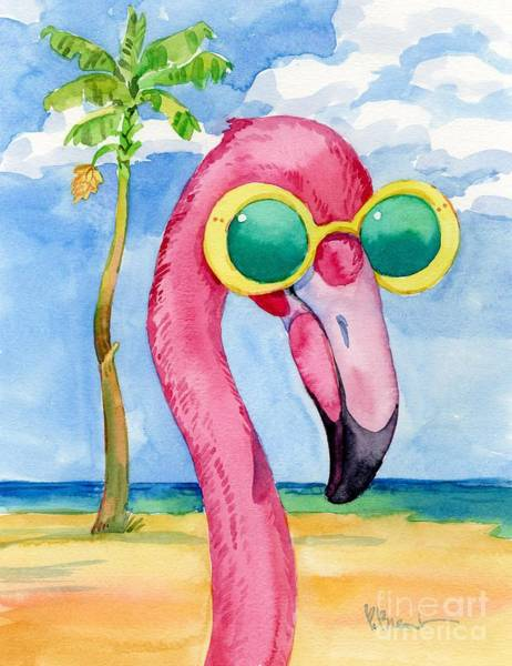 Wall Art - Painting - 17189 - Looking Good Flamingo II by Paul Brent