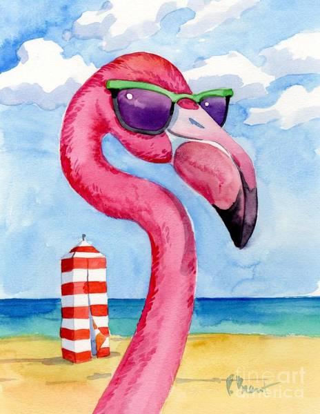 Wall Art - Painting - 17190 - Looking Good Flamingo IIi by Paul Brent