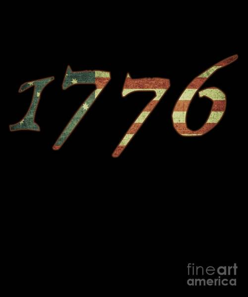 Declaration Of Independence Digital Art - 1776 Declaration Of Independence Us Flag by Flippin Sweet Gear