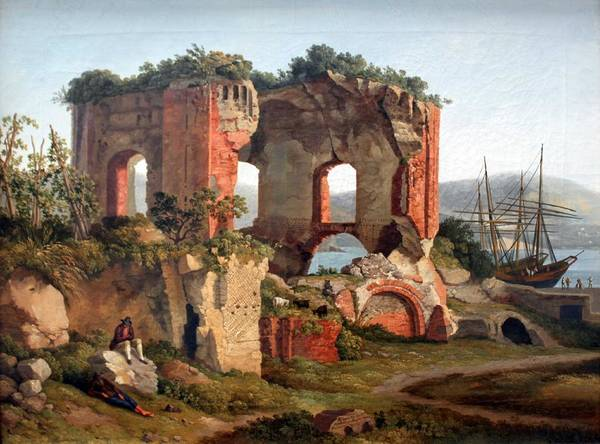 Wall Art - Painting - 1799 Hackert Der Venustempel In Baja I Anagoria by Celestial Images