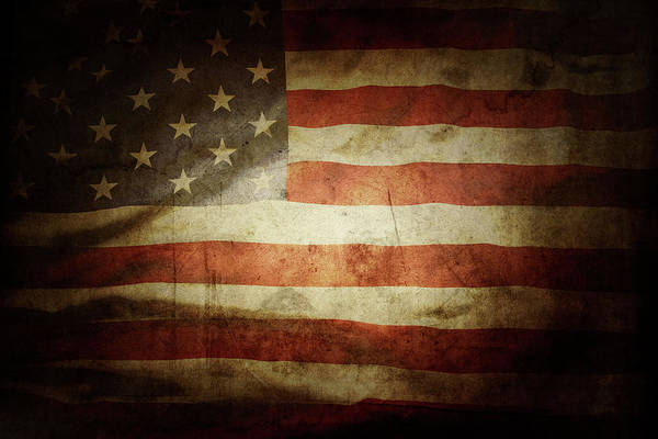 Wall Art - Photograph - American Flag No.191 by Les Cunliffe