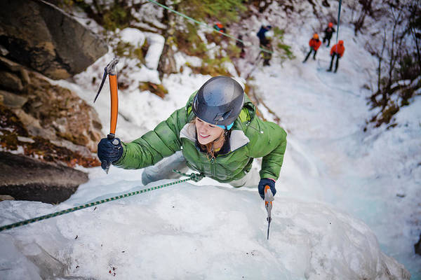 Climbing Photograph - Ice Climbing by Christopher Kimmel