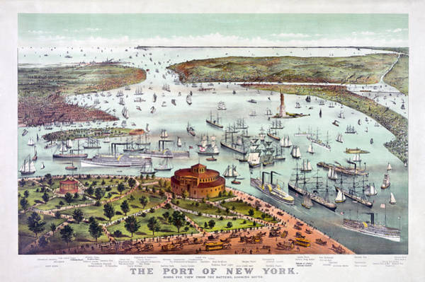Photograph - 1800s Port Of New York by Paul W Faust - Impressions of Light