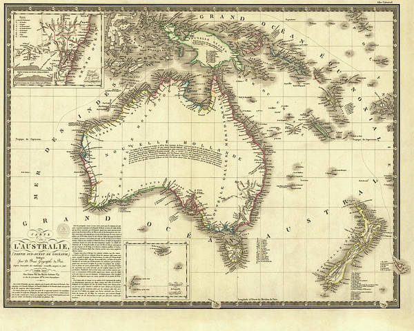 Digital Art - 1826 Map Of Australia Au by Toby McGuire