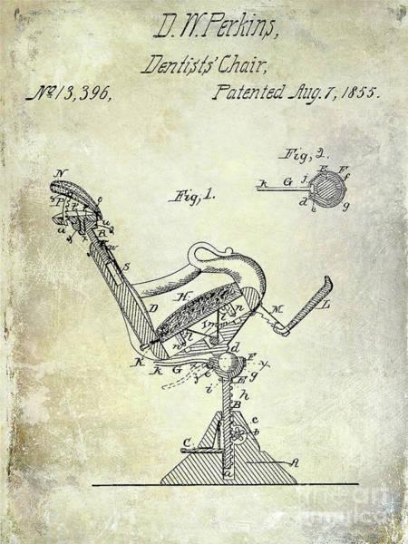 Wall Art - Photograph - 1855 Dentist Chair Patent by Jon Neidert