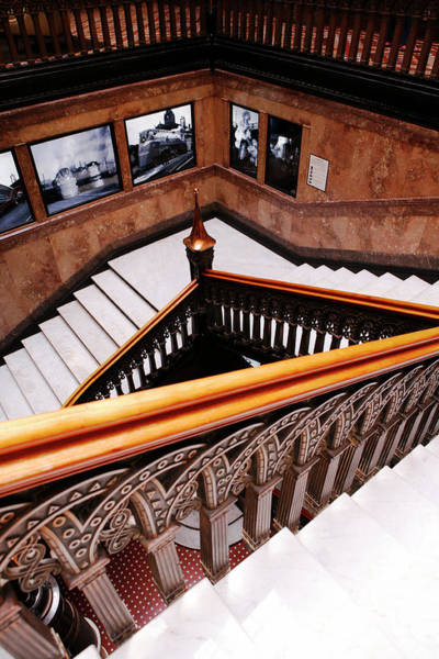 Photograph - 1870 Marble And Bronze Staircase by Marilyn Hunt