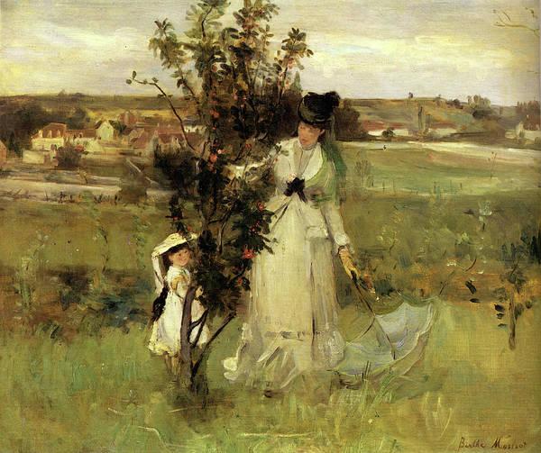 Seek Painting - 1873 Hide-and-seek by Berthe Morisot