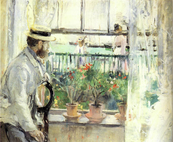 Wall Art - Painting - 1875 Eugene Manet  In The Island Of Wight by Berthe Morisot