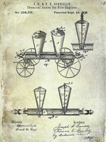 Wall Art - Photograph - 1878 Fire Truck Patent by Jon Neidert