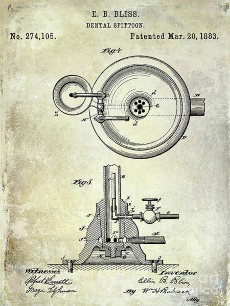 Wall Art - Photograph - 1883 Dental Spittoon Patent  by Jon Neidert