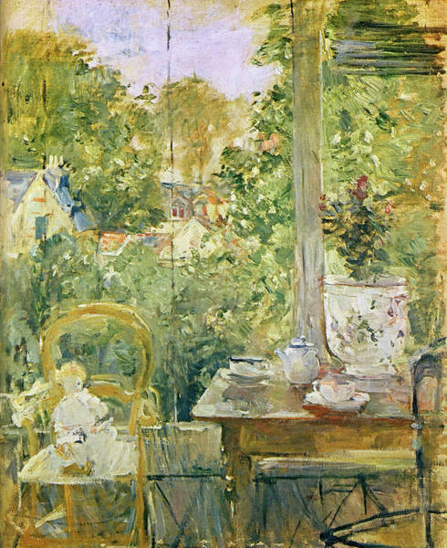 Wall Art - Painting - 1884 The Headstock In  The Veranda by Berthe Morisot