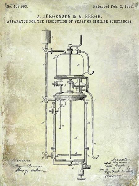 Wall Art - Photograph - 1892 Beer Yeast Patent by Jon Neidert